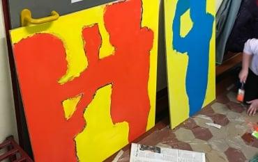 """""""Keith Haring"""" am Kunstprojekt in den Klassen 4a und 4b"""