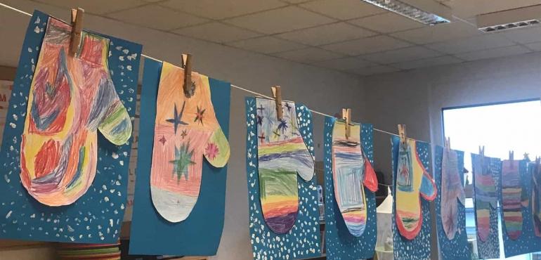 Klasse 1A: Handschuhe im Winter