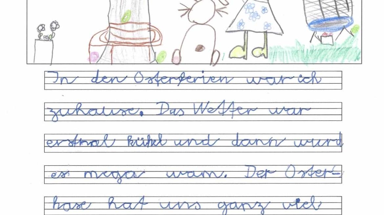 Meine Osterferien – Texte von Kindern aus der 2B