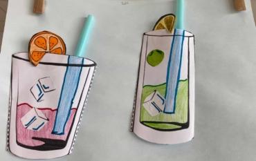 Die ELMARs der Klasse 2a mixen sommerliche Drinks ☀️🍹☀️