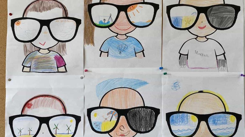 Sommerferienbrillen der ELMAR-Klasse 3a 😎☀️😎