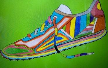 Die ELMARs der Klasse 3a designen ihre eigene Sneaker-Kollektion👟