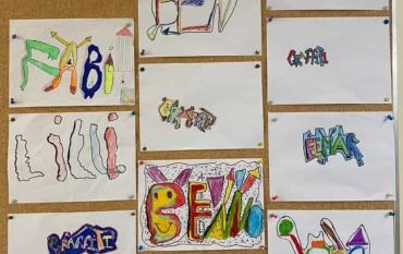 Graffiti-ELMARs der Klasse 3A: